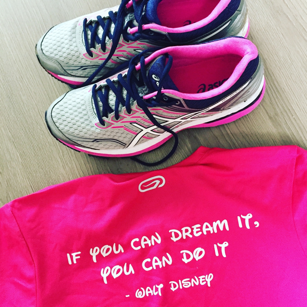 """Hardloop motto """"if you can dream it, you can do it"""" - Walt Disney"""