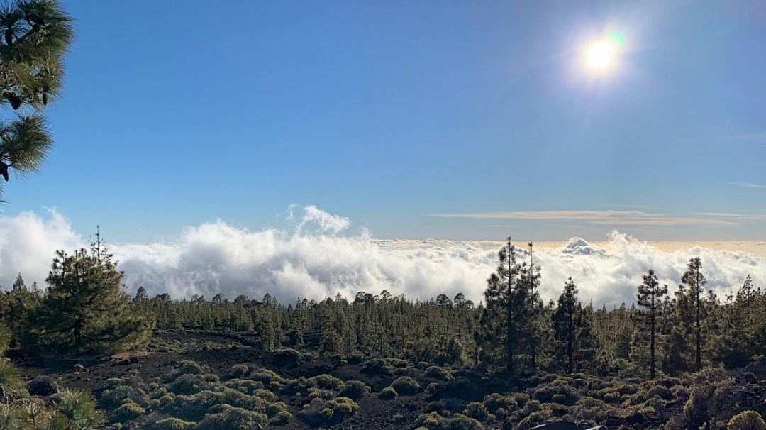 Boven de wolken op de Teide in Tenerife