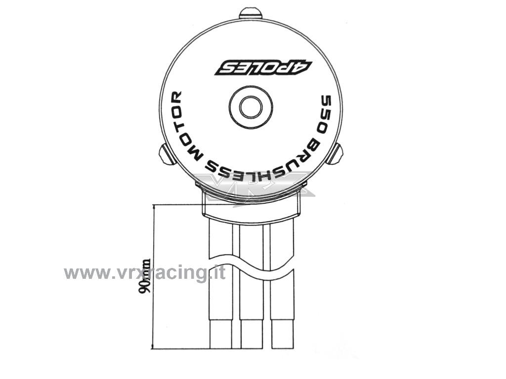 Motore Rocket 550 4y Kv Brushless Sensorless Albero Motore Da 3 17mm