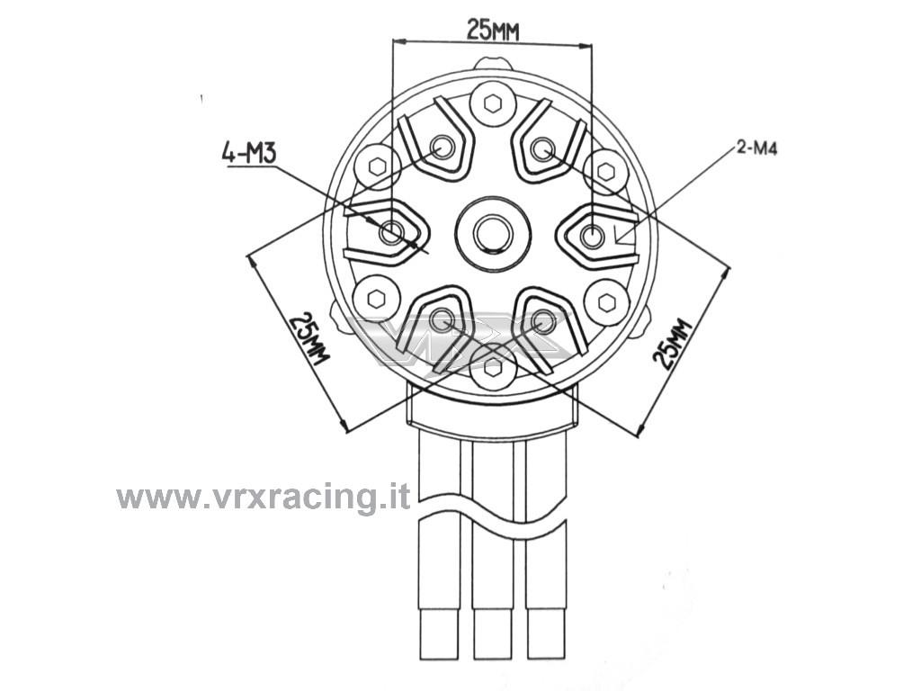 Motore Rocket 1 8 2y Kv Brushless Sensorless