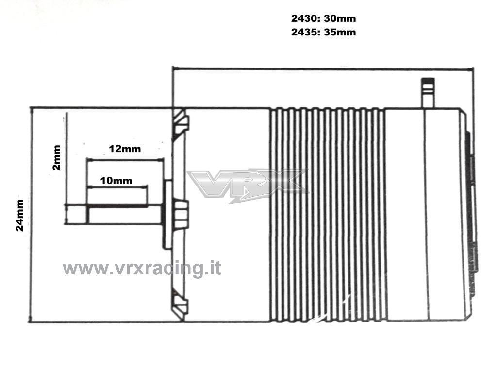 Motore Classic 5y Kv Brushless Sensorless Scala 1 16 1 18