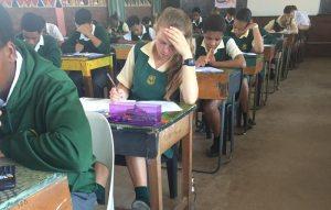 Learners writing Maths