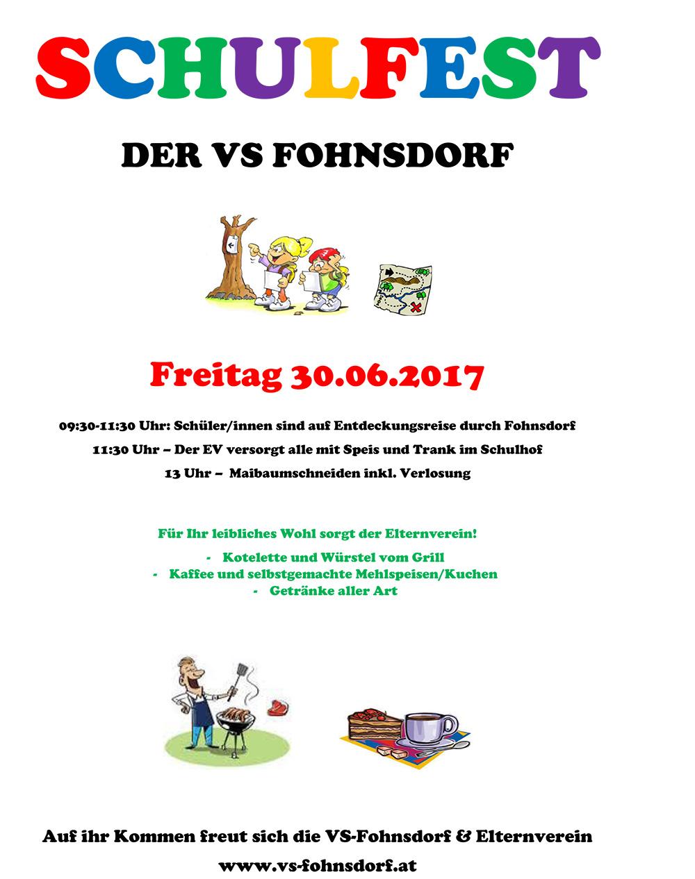 Plakat Schulfest 2017