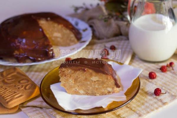 Быстрый торт из печенья без выпечки Все Блюда