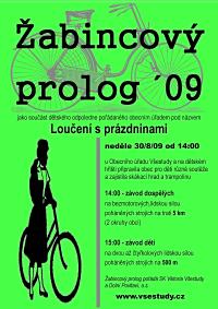 plakát zvoucí na žabincový prolog '09