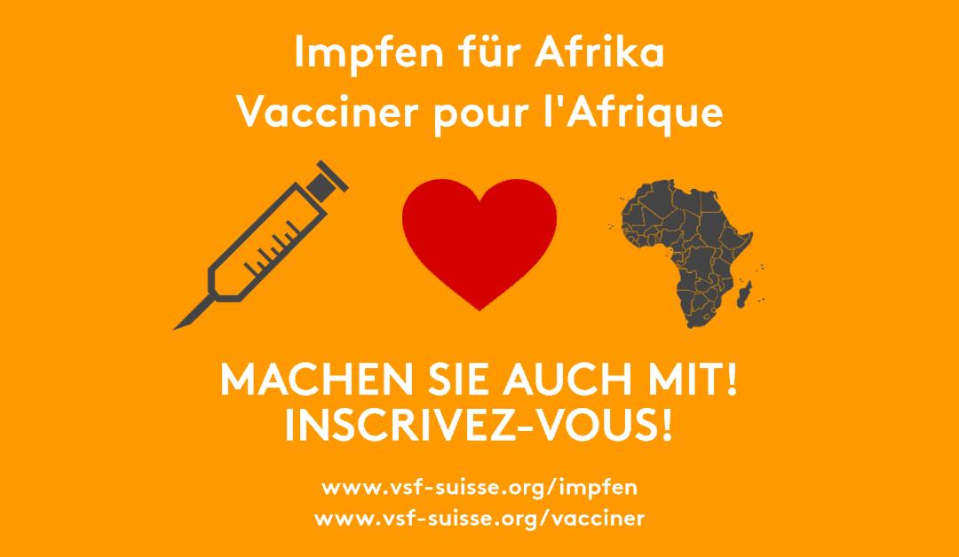 Vacciner pour l'Afrique – la moitié de l'objectif est atteint !