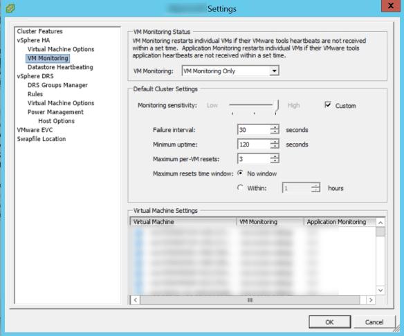 Virtual Machine Reset By HA-VMware Tools Heartbeat failure |