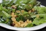 Теплый салат из ветчины и яиц