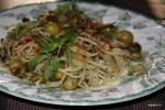 Спагетти со щавелем Путанеска