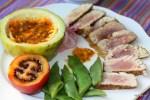 Жареный тунец, маракуя, зеленая фасоль: приготовлено на Мадейре