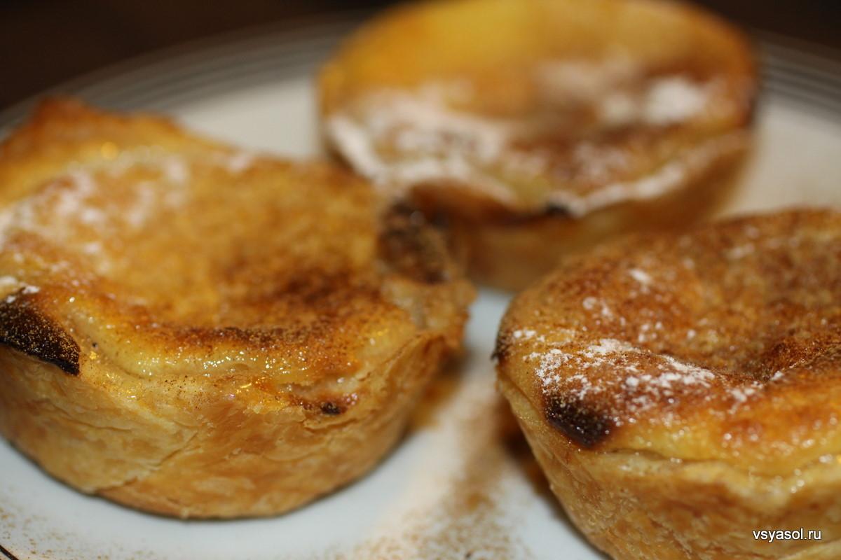 Пирожные Паштел-де-ната (Паштейш), пошаговый рецепт с фото