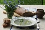 Крем-суп из спаржи и шампиньонов