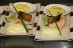 Лосось под  беарнским соусом с картофельным пюре от Дидье Коли