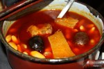 Фавада, традиционное блюдо Астурии. Сидрерия Tierra Astur, Овьедо