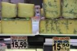 Этот астурийский сыр называется Три молока: его делают из молока коровы, овцы и козы. Рынок Эль Фонтан, Овьедо