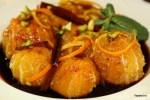 Постновогодний десерт: мандарины в карамели с корицей