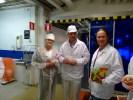 С Калле и Майлен Фазер на фабрике в Вантаа