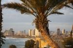 Вид на Тель-Авив из Яффы на закате