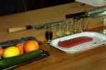 Ингредиенты для приготовления спинки тунца в цитрусово-соевом соусе