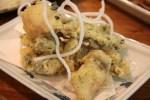 Темпура из бейби-кальмаров с кунжутно-соевым соусом