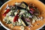 Теплый салат из кускуса с запеченными овощами