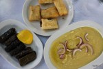 Закуски под узо: долма, пирожки со шпинатом, фава