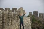 На крепостной стене средневекового города Обидуш