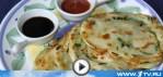 Китайские блинчики с зеленым луком (видео-рецепт)