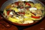 Катаплана с вяленой треской и овощами