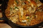 Цыпленок с рисом на латиноамериканский манер