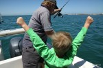 Даня торжествует: еще один кальмар попался на удочку