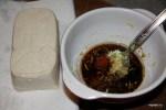 Маринад и сыр тофу