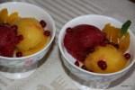 Сорбе из абрикосов и брусники