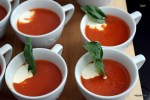 Томатный суп с ревенем
