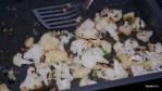 Цветная капуста, запеченная с чесноком и имбирем