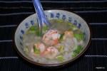 Китайский суп из дайкона с креветками