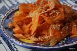 Салат из моркови с заправкой из имбиря и мисо