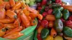 Огненные перуанские перцы на рынке в Арекипе