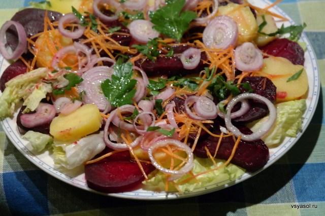 Австрийский салат со свеклой, картофелем и луком – Вся Соль - кулинарный блог Ольги Баклановой
