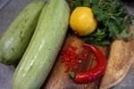 Ингредиенты для спагетти из кабачка