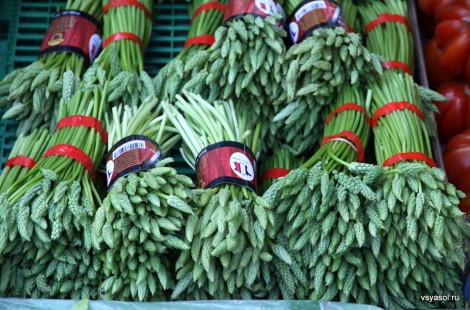 Дикая спаржа на рынке Пленпале, Женева