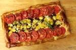 Тарт с помидорами, беконом и сыром