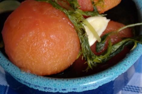 Трехдневные соленые помидоры