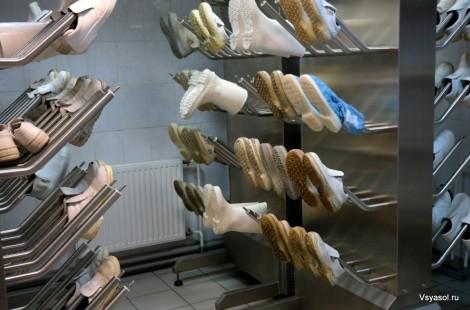 Стерильная обувь для рабочих