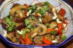 Салат из баклажанов с кедровыми орешками