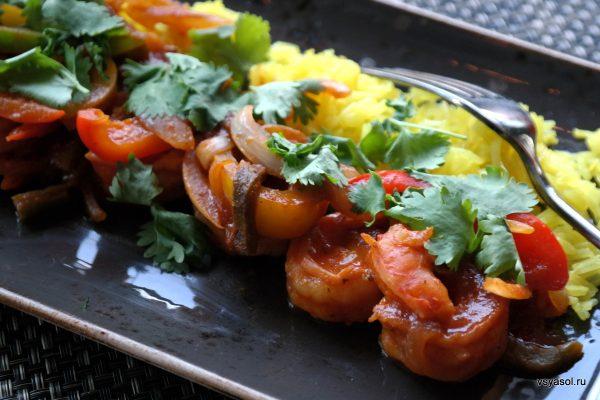 Креветки в тамариндовом соусе