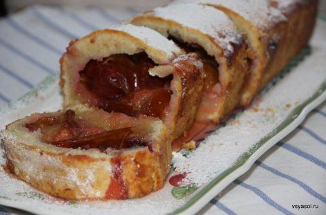 Итальянский сливовый пирог