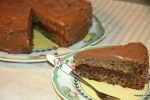 Банановый пирог с шоколадным кремом