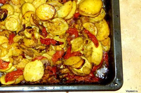 Запеченные в духовке осенние овощи