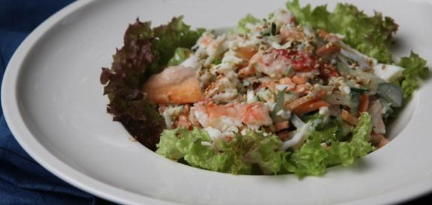 Японский салат из крабов